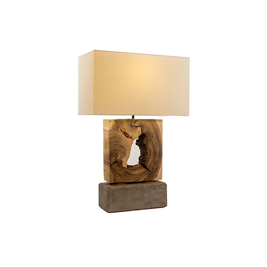 Natural lighting wood and stone table lamp tree natural lighting wood and stone table lamp aloadofball Images